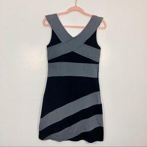 Synergy | Organic Cotton Gray Black Bodycon Dress
